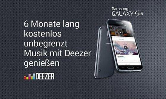 6 Monate Gratis Deezer Premium+ für Samsung Galaxy S5