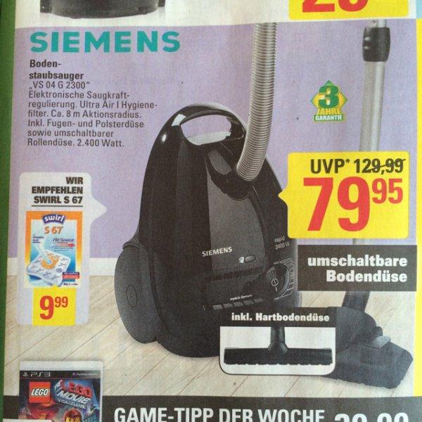 [Lokal Bremen] Siemens Staubsauger VS 04 G 2300