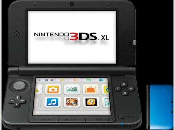 NINTENDO 3DS XL blau + schwarz