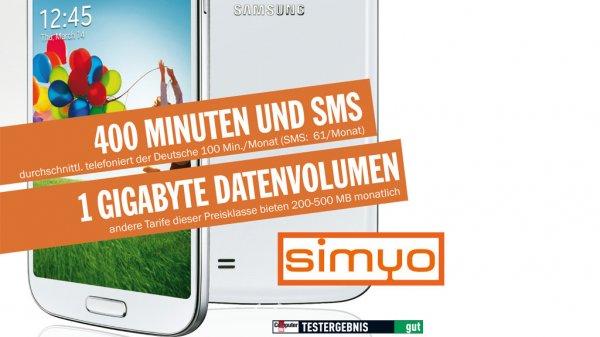 Computerbild und Simyo GigaFlat plus 400 min Tel /SMS