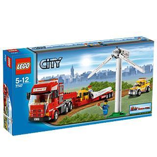 LEGO City Windturbinen-Transporter 7747-  Windturbine 33cm, Lastwagen 42cm