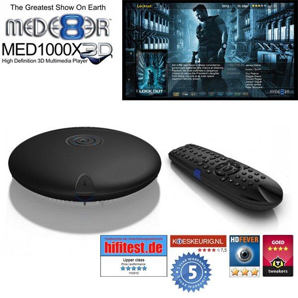 [iBood] Mede8er MED 1000X3D Media Player - ohne integr. HD und ohne WiFi für 146€ (~ 25 % unter Idealo)