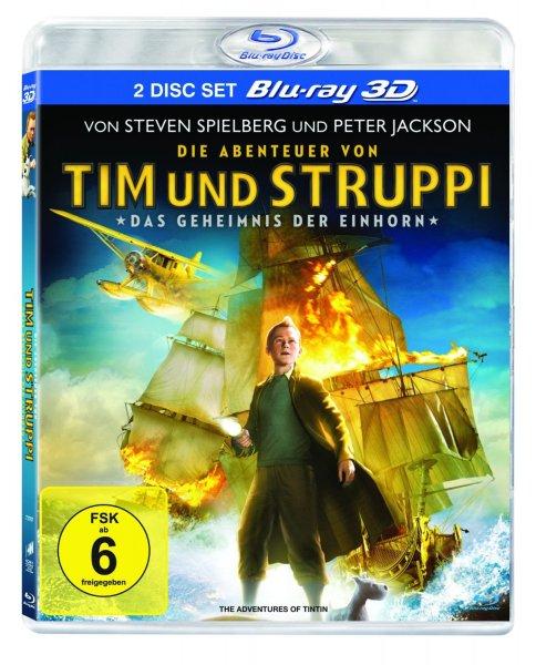 [amazon.de] Die Abenteuer von Tim & Struppi - Das Geheimnis der Einhorn [Blu-ray 3D+Blu-ray] für 12,97 € (Prime oder Hermes)