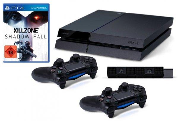 PS4 500 GB + 2 Controller + Kamera + Killzone 501,93 € + 2,90 € Versand