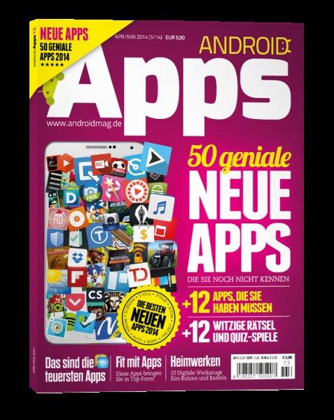 """kostenlose Ausgabe des """"Android Apps"""" Magazins (sonst 5,90€)"""