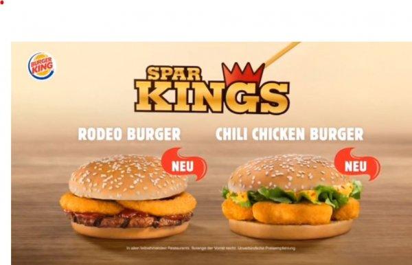 Burgerking - Rodeo Burger oder Chili Chicken für je 1,49 € (Neu im Spar-King-Sortiment)