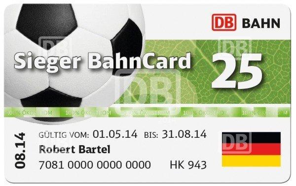 Sieger BahnCard 25