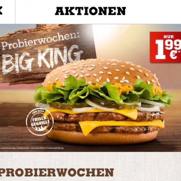 [Burger King] Big King Probierwochen für 1,99