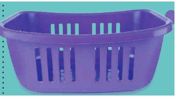 Marktkauf  Wäschekorb Plastik 2€ lila/weiß