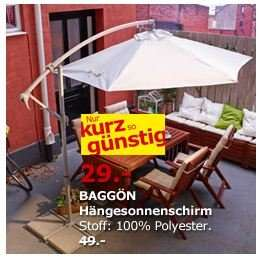 IKEA Hänge-Sonnenschirm BAGGÖN für 29 statt 49 Euro