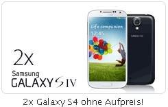 2x Samsung Galaxy S4 + NUR EIN BASE all-in classic (Allnet + SMS + Internet Flat nur 35€ im Monat)