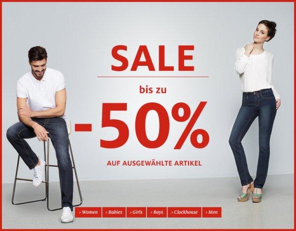 [C&A] Sale bis zu 50% reduziert auf ausgewählte Artikel + 10% Newslettergutschein + 4,50% qipu
