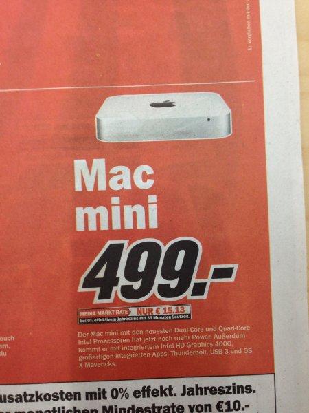 [LOKAL MM Weiterstadt] Mac mini MD387 für 499€