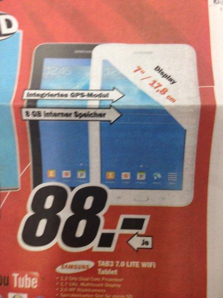 [LOKAL MM Weiterstadt] Samsung Tab3 7.0 Lite für 88€