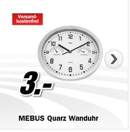 QUARZ-WANDUHR -mit Thermometer / Hygrometer  @mediamarkt.de 3€