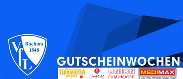 Sitzplatzkarte VfL Bochum - KSC (11. Mai 2014) + 10 EUR Medimax Bochum Gutschein für 15 EUR