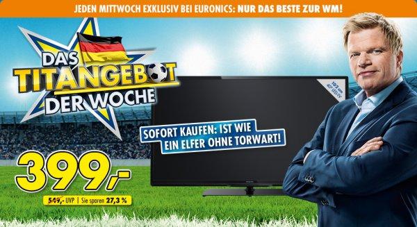 PHILIPS Fernseher - 40 Zoll, Full HD-LED 3D-Smart TV - nur 399€