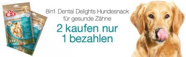 (Amazon 2 für 1) 2 Beutel 8in1 Delights Pro Dental XS Zahnpflegesnacks im 21er-Beutel zum Preis von einen