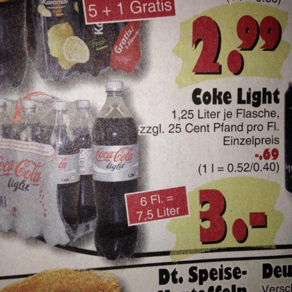 Liter Coke bei Jawoll für 40 Cent