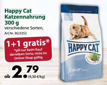 [DEHNER BUNDESWEIT] Happy Cat Katzenfutter 300g - 2 zum Preis von 1 (51% Günstiger als Idealo)