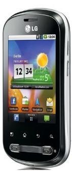 Android Smartphone LG P350 mit GPS und 3,2 MP Kamera inkl. Versand 89,90€