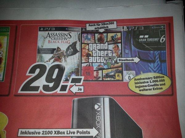 [Lokal Mediamarkt Wuppertal ] GTA 5 - Grand Theft Auto V  . Für PS3 und XBox 360