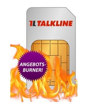 Talkline: 100 Min, 3000 SMS & 500 MB im E-Plus-Netz für 0 Euro (-10€ mit Qipu)