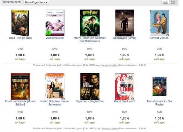 8870 DVDs für je 1€bei reBuy (Gebrauchtware)