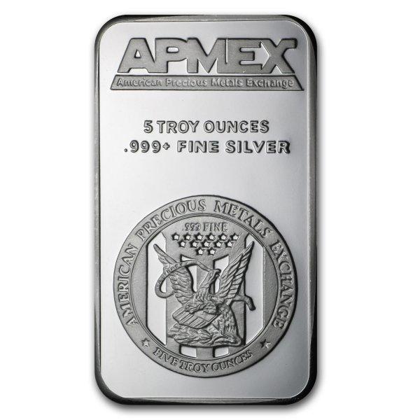 APMEX-Silberbarren, 5 oz., Feinheit: 999