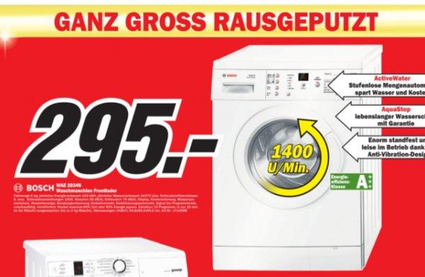 (lokal MM Hannover) Waschmaschine Bosch WAE 28346; Idealo ab 412