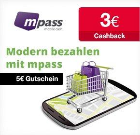 mpass: Gratis registrieren und 3€ Cashback + 5€ Startguthaben erhalten