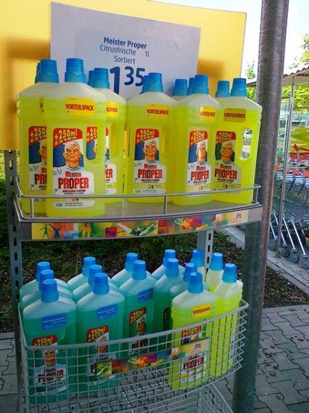 Meister Proper  Reiniger  1,25 l Vorteilsflasche  bei dm  für 0,85