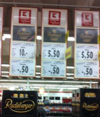 Radeberger und co 1 liter = 1 euro