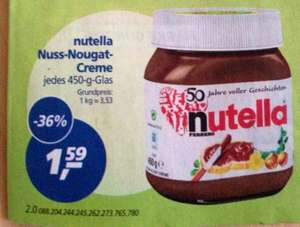 NUTELLA 450g Gebutstagsedition