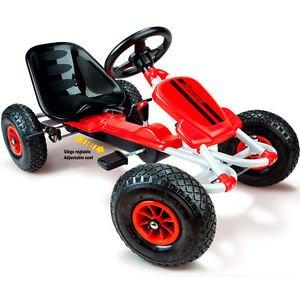 Smoby Go Kart mit Luftbereifung, verstellbarer Sitz, 2-stufige Schaltung, 100 cm