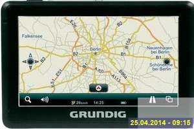 "Grundig Navigationsgerät mit Europakarten immer AKTUELL in 4,3"" = 10,9cm < 50 Euro"