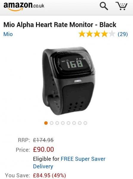 [Amazon UK] Puls Uhr Alpha Mio inklusive Versand 119 Euro