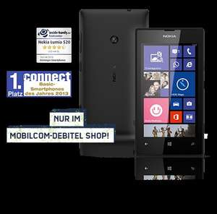 Nokia Lumia 520 Windowsphone 8 für 89,99€ bei mobilcom-debitel