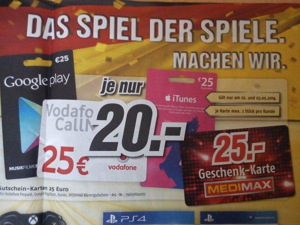 [Offline] Medimax 25€ Vodafone CallNow für 20€ - 2 Stück pro Kunde möglich 2.- 3.5.2014