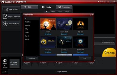 BlazeVideo SmartShow [Videoeditor] kostenlose Vollversion zum Download