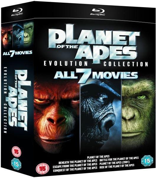 """[zavvi.es u. zavvi.nl] Planet der Affen [Blu Ray] """"Evolution Collection"""" (7 Discs) für 21,09 €"""