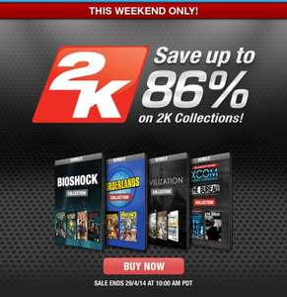 2K Sale bei GameFly - Bis zu 86% Rabatt - Borderlands, Xcom, BioShock inkl. aller DLCs ab 7,64 €