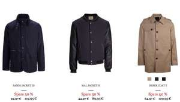 50% Rabatt auf Jacken von Selected Homme / Femme