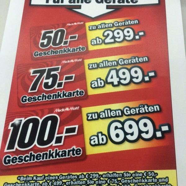 Mediamarkt Trier Einkaufsgutscheine - Preisstaffelung