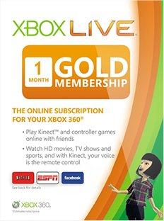 Xbox Live Gold - 1 Monat 2,49€