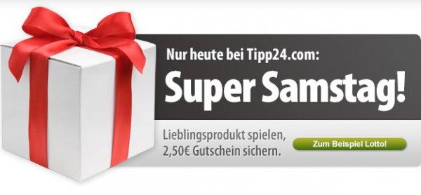 [Tipp24] beliebiges Produkt spielen und 2,50€ Gutschein erhalten