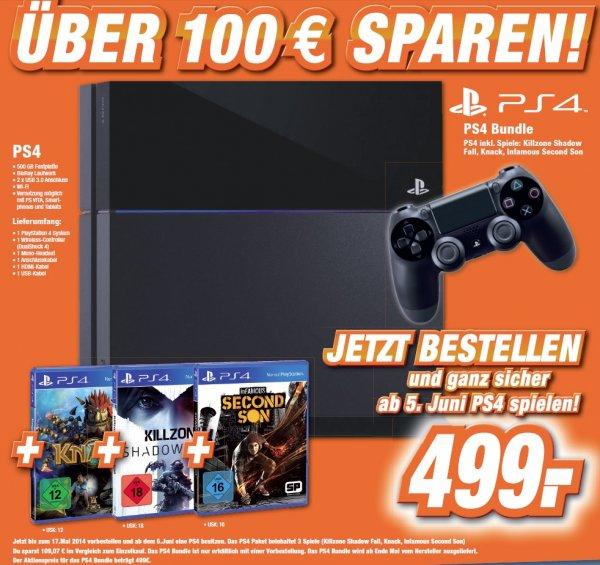 Playstation 4 über 100 € sparen. Jetzt bestellen und garantiert ab 5. Juni 2014 spielen!