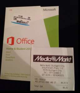[Lokal Stuttgart] MS Office Home and Student 2013