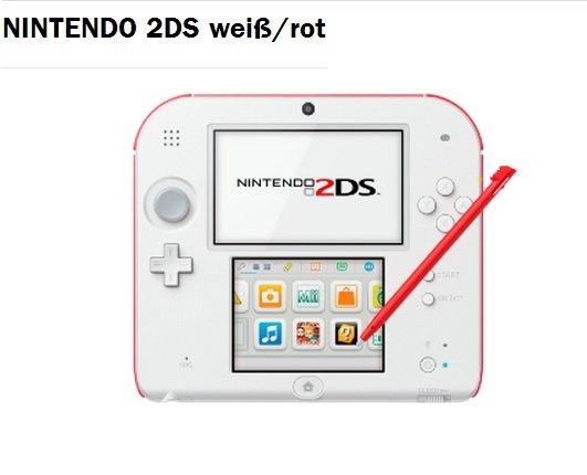 """Nintendo 2DS HW White + Red für 55€ """"Resposten"""" Lokal [Mediamarkt Siegen]"""