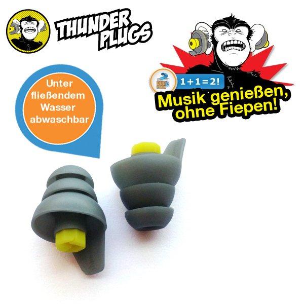 iBOOD Duopack Thunder Plugs - Silikon Ohrstöpsel
